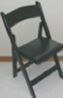 Black Wood Chair With Padded Seat