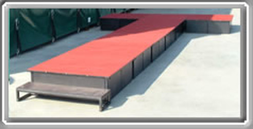 Carpeted Stage
